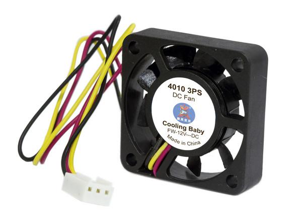 Вентилятор Cooling Baby 40x40x10мм SB 12В 0,11А 22дБ, 5000 об/мин 3pin (4010 3PS)