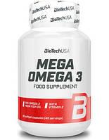 Рыбий жир BioTech Mega Omega 3 90 caps.