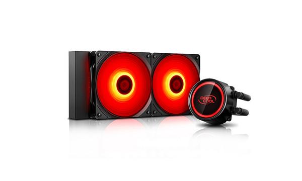 СВО Deepcool GAMMAXX L240 T RED LED 20XX/1366/1200/115X/AM4/AM3+/AM3/AM2+/AM2/FM2+/FM2/FM1 (GAMMAXX L240 T