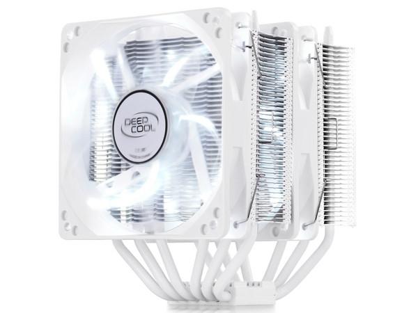 Охладитель для проц. Deepcool NEPTWIN WHITE all Intel+all AMD sockets,159x136x126мм,2 PWM HB (NEPTWIN WHITE)