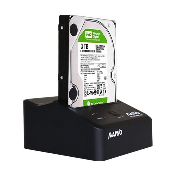 "Док-станция Maiwo для HDD 2,5""/3,5"" SATA через USB3.0 безвинтов. крепление пластик черн. (K300-U3S)"