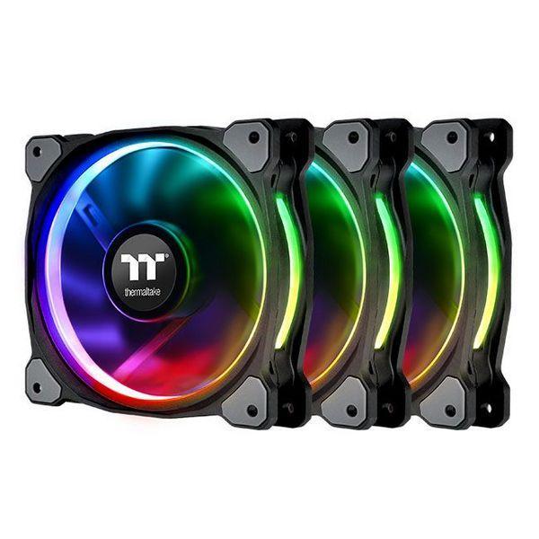 Набор RGB Thermaltake Riing Plus 12 RGB Radiator Fan TT Premium Edition (комплект из 3-х) (CL-F053-PL12SW-A)