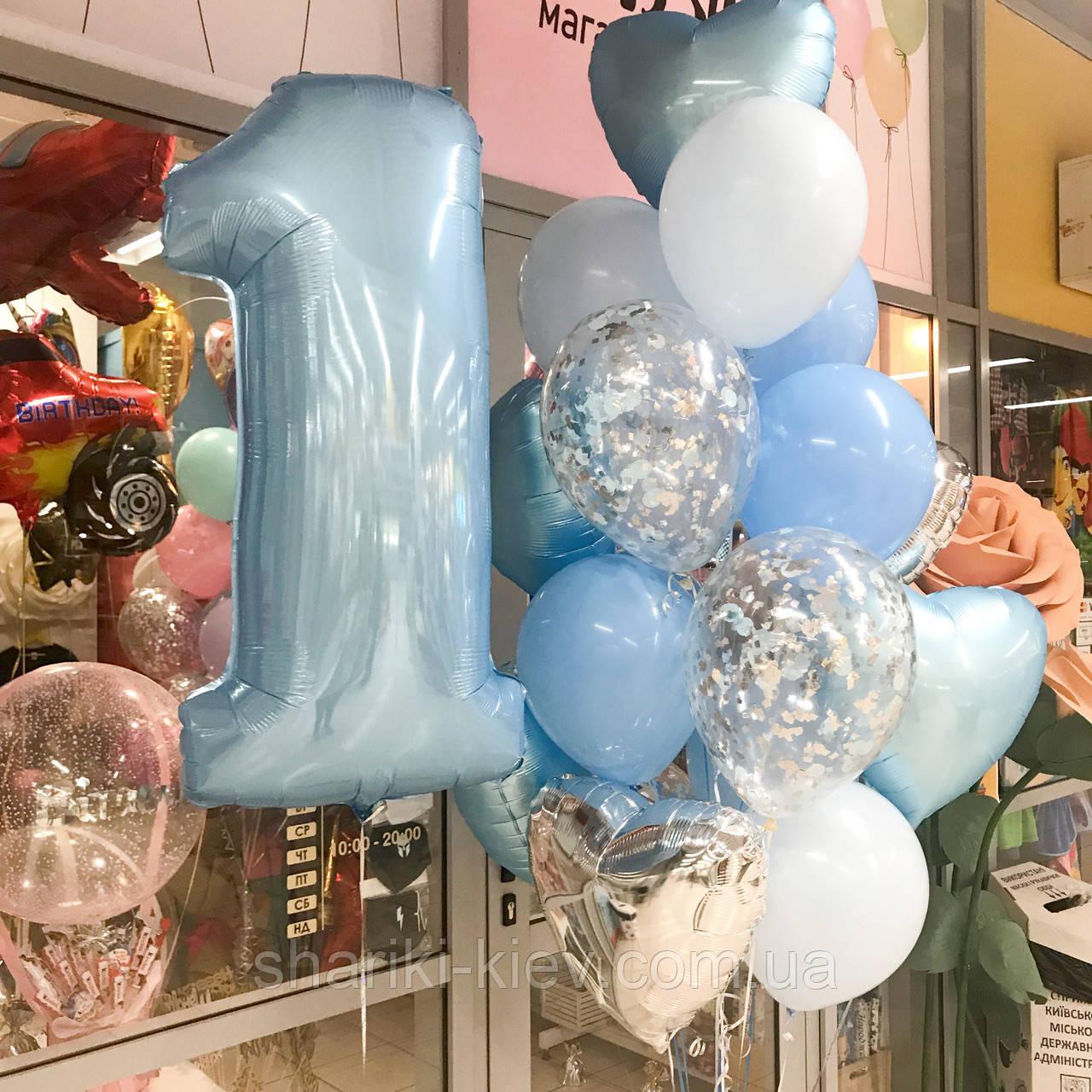 Набор шаров с цифрой на первый День Рождения