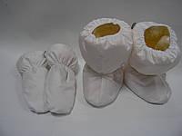 Набор белый - сапожки и варежки на меху , фото 1