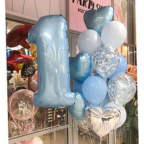 Набор шаров с цифрой на первый День Рождения, фото 2