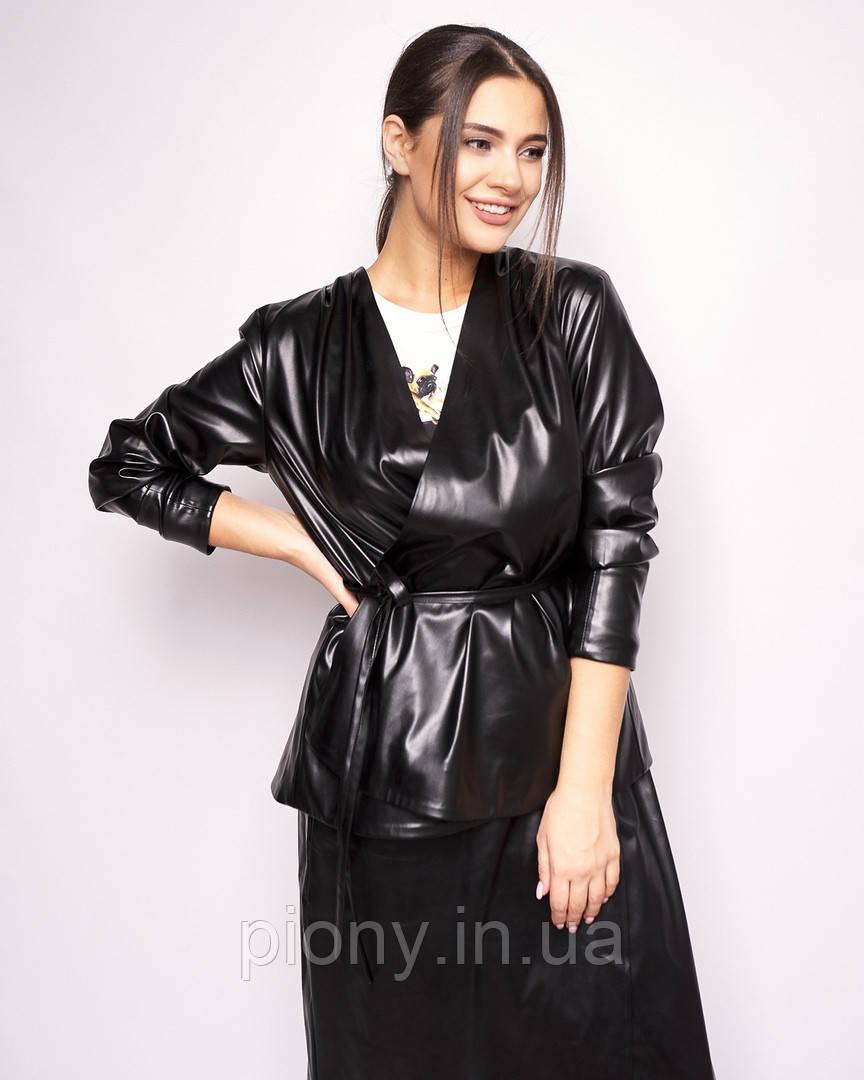 Женская Куртка из эко-кожи БАТАЛ