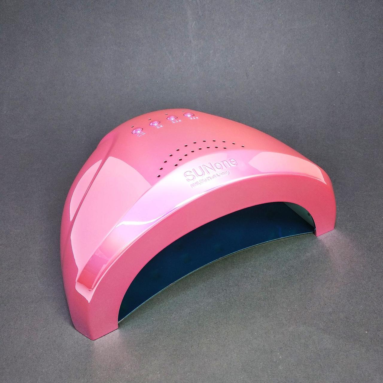 LED UV Лампа Sun One для маникюра 48вт, розовая голограмма