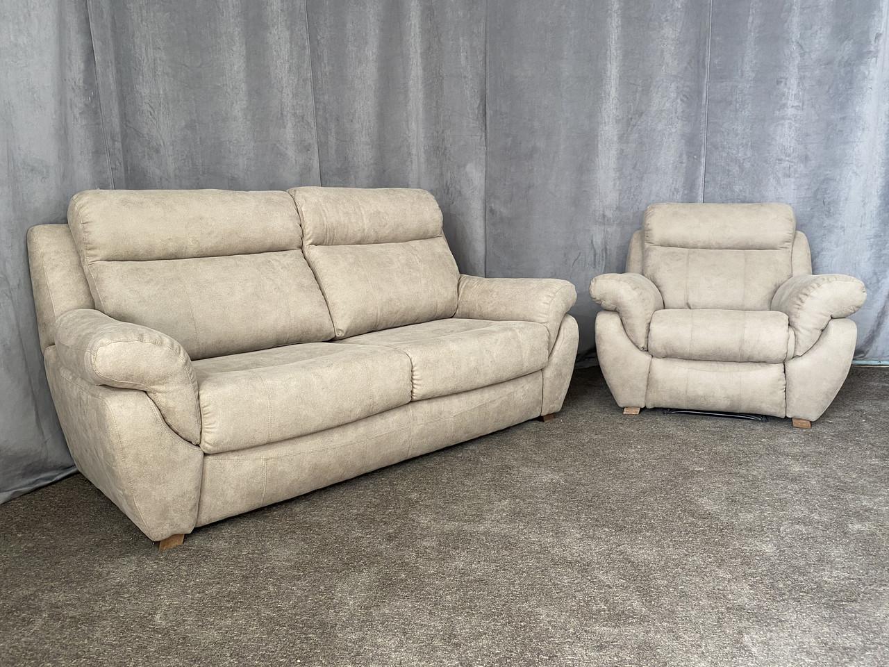 """Кожаный комплект мягкой мебели """"Midas"""", реклайнер"""
