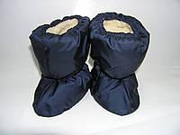 Сапожки на меху для малышей синие