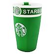 Чашка Керамическая Кружка Стакан с силиконовой крышкой Starbucks 450 мл, фото 3