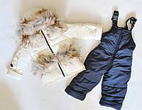 Детский зимний комбинезон на девочку 1-3 года, зимние комбинезоны детские, фото 1