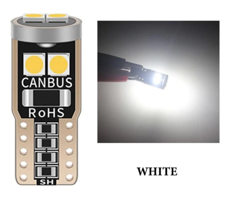 T10 6-SMD 3030 LED W5W лампочка автомобільна - білий