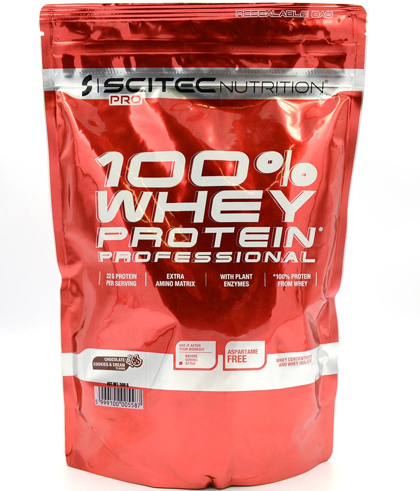 Протеин Scitec Nutrition 100% Whey Protein Ppofessional 500g (ШОКОЛАД)
