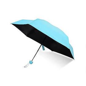 Мини-зонт в капсуле Mini Capsule Umbrella Original | Карманный зонт-капсула Синий