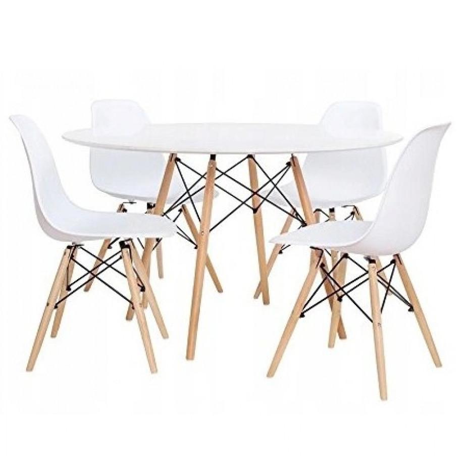 Стол кухонный обеденный ETT + 4 кресла TOLV