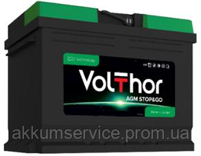 Акумулятор автомобільний VolThor AGM Stop&Go 80AH R+ 800A (713080)