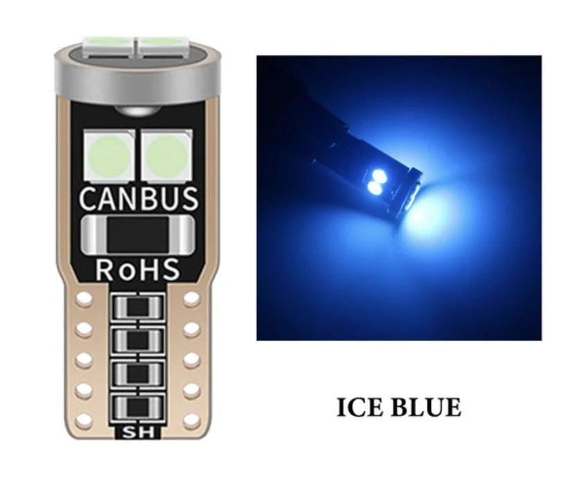 T10 6-SMD 3030 LED W5W лампочка автомобільна - блакитний