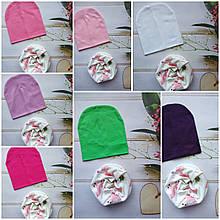 Стильные трикотажные детские наборы шапка+хомут, снуд