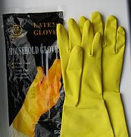 Перчатки желтые латексные хозяйственные SNOWDROP (упаковка 12 пар)
