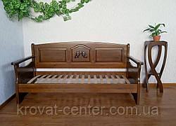 """Деревянный диван с выдвижными ящиками от производителя """"Орфей Премиум"""" 90х200, лесной орех, фото 3"""
