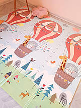 Детский развивающий двусторонний термо коврик №13 Воздушный шар и Мишка, размер 200х180х1см, фото 3