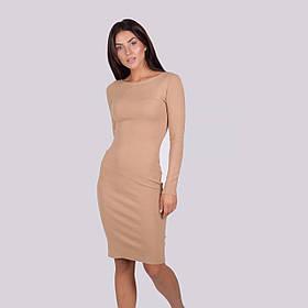 Трикотажное теплое платье-миди в рубчик микс из  8 цветов в размерах SM и ML