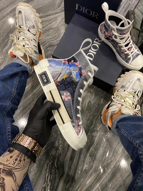 """Кеды Dior B23 Sneakers High Top """"Разноцветные"""""""