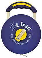 Мірна стрічка 50м/13мм з ручкою, скловолокно S-LINE