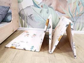 """Дитячий розвиваючий двосторонній термо килимок №14, """"Дорога і Кактус"""", розмір 200х180х1см, фото 3"""