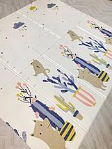 """Детский развивающий двусторонний термо коврик №14, """"Дорога и Кактус"""", размер 200х180х1см, фото 2"""