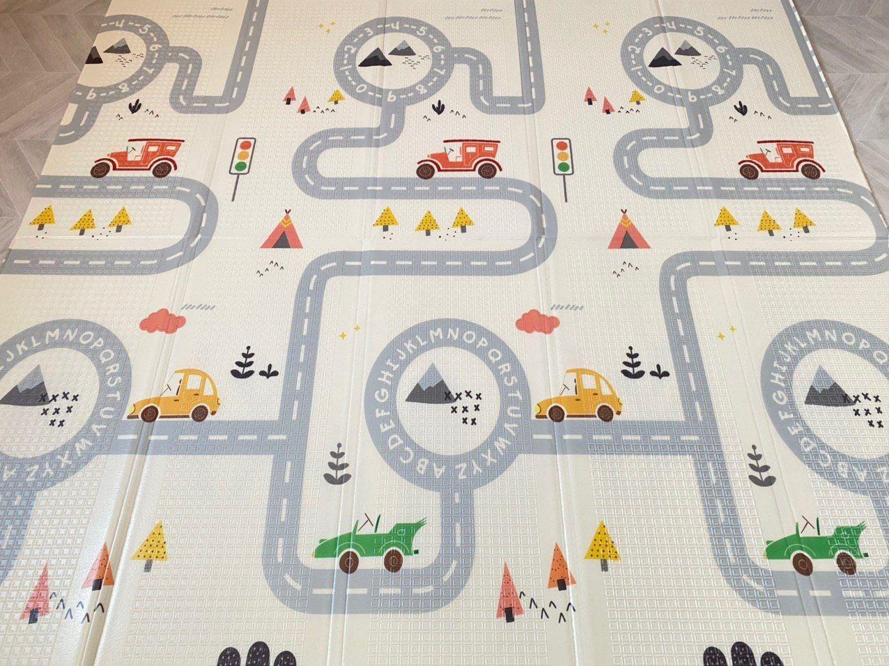 """Дитячий розвиваючий двосторонній термо килимок №14, """"Дорога і Кактус"""", розмір 200х180х1см"""