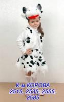 Карнавальный костюм Коровка меховой 5-8 лет, фото 1