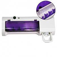 Диспенсер для зубної пасти та щітки авто Multi-function Toothbrush sterilizer. Тримач зубних щіток і пасти., фото 1