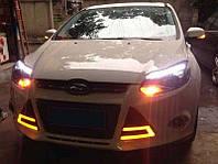 Штатные дневные ходовые огни (DRL) для Ford Focus 2011+ T4