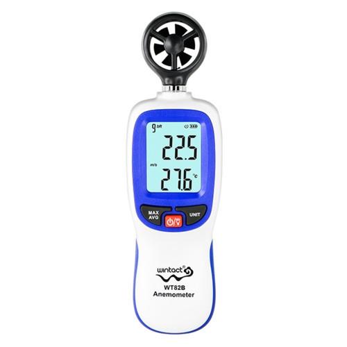 Анемометр крыльчатый Bluetooth 0,3-30 м/с, -10-45°C WINTACT WT82B