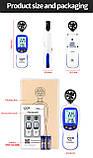 Анемометр крыльчатый Bluetooth 0,3-30 м/с, -10-45°C WINTACT WT82B, фото 4