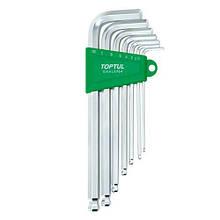 Набір шестигранних ключів з кулею TOPTUL 2,5-10мм 7ед. довгих GAAL0704