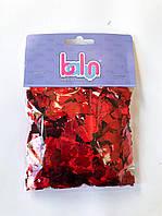 Конфетти красный (квадратик) 100 грамм, фото 1