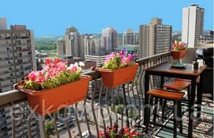 Цветы в оформлении балкона