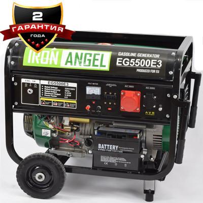 Генератор бензиновий IRON ANGEL EG 5500 E3