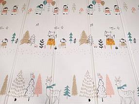 """Детский развивающий двусторонний термо коврик №16, """"Пингвины и Мишки"""", размер 200х150х1см, фото 2"""