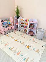 """Детский развивающий двусторонний термо коврик №16, """"Пингвины и Мишки"""", размер 200х150х1см, фото 3"""
