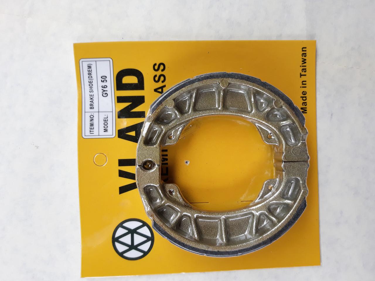 Колодки тормозные (барабан) 10/12 колесо прямая пружина для  GY6  80cc Тайвань