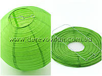 Бумажный подвесной фонарик, зеленый, 45 см