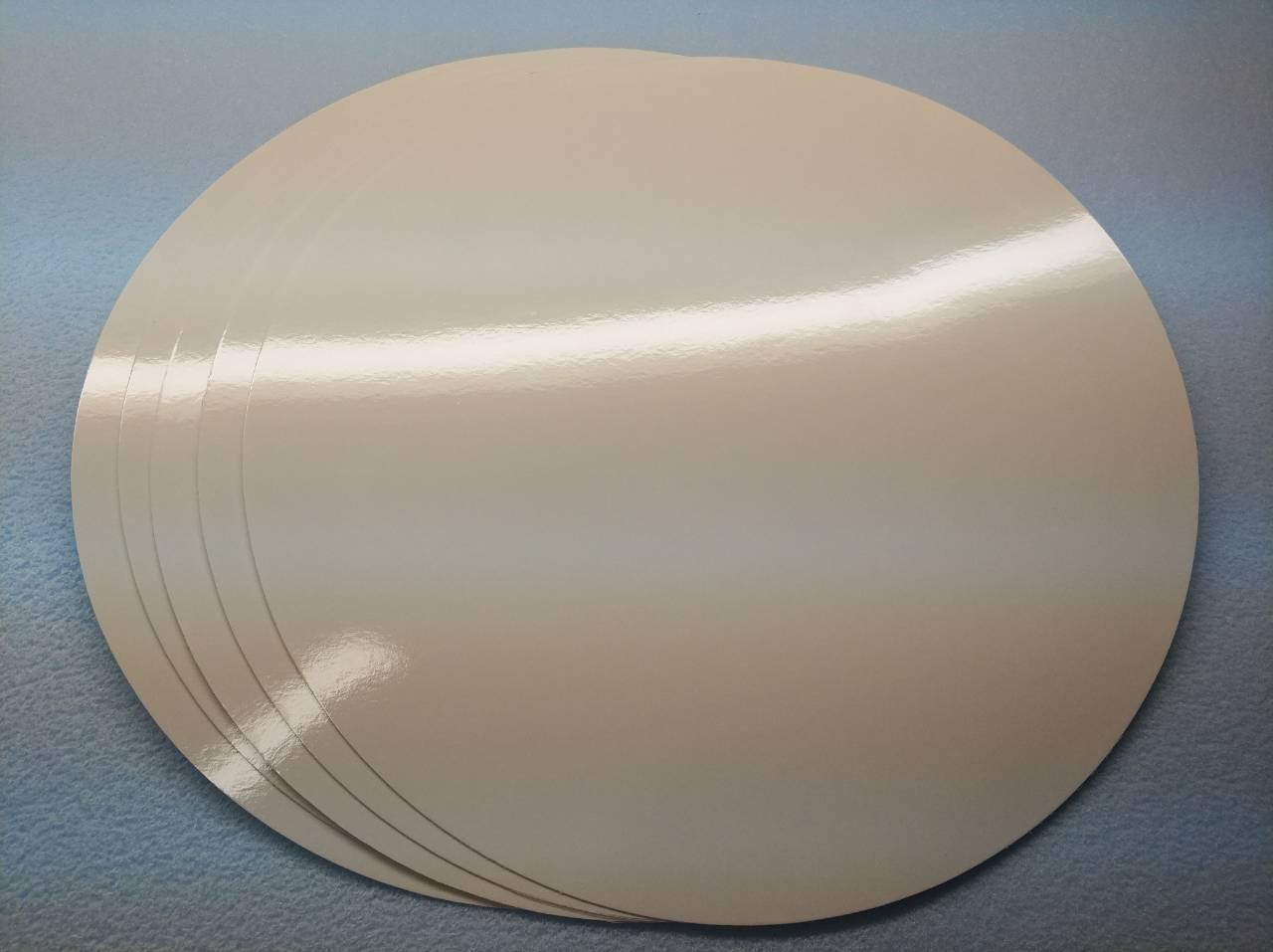 Подложка ламинированная белая, диаметр 90 мм