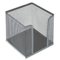 Бокс для бумаги металлическая сетка, 100*100*100, серебристый