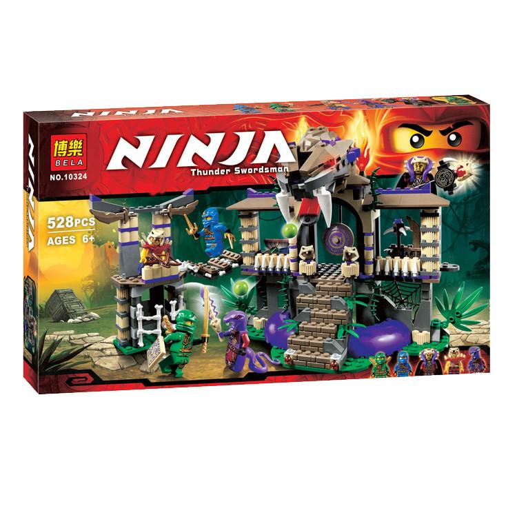 Конструктор Bela 10324 Ninja Крепость 528 деталей