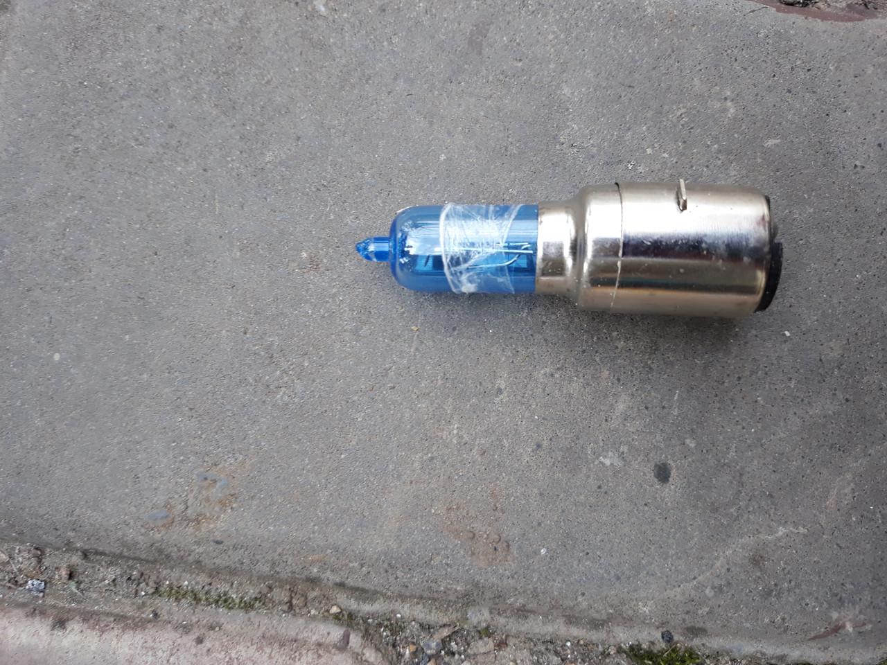 Лампа фары синяя 12 V 35|35 для  GY6  150cc