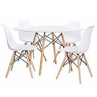 Стол кухонный обеденный ETT + 4 кресла TOLV, фото 1