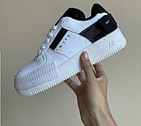 Кроссовки женские Nike Air Force 1 Type White/Black - Найк Аир Форс Низкие